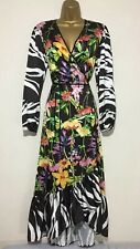 BNWT Coast Wrap Black Floral Occasion Maxi Dress Size 16