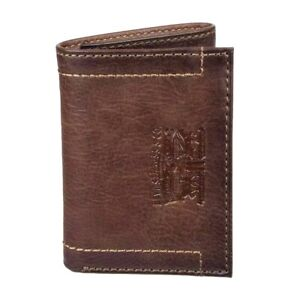 Levi's Men's RFID-Blocking Leather Trifold Wallet Brown