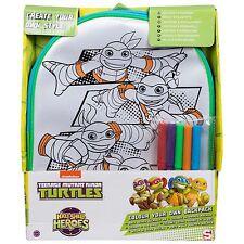 Teenage Mutant Ninja Turtles colore il tuo zaino TMNT Bambini Giocattolo Nuovo