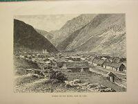 C1890 Antiguo Estampado ~ Pueblo De San Mateo ~ East De Lima
