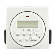 7 Day Programmable Timer | Digital Electronic Switch Dual 2 Outlet UL