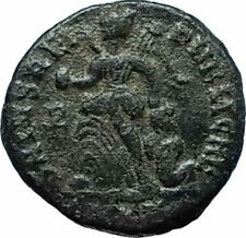 THEODOSIUS I the Great 388AD Authentic Ancient Roman Coin VICTORY ANGEL i66176
