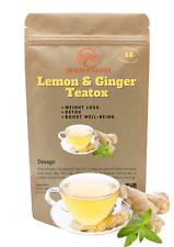 SALE 14 Day LEMON & GINGER Detox Tea Weight Loss Slimming Diet Teabags TEATOX