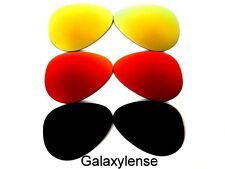 GALAXY Lenti di ricambio per Ray-Ban RB3025 AVIATOR black&red&gold 58mm 3 Coppie