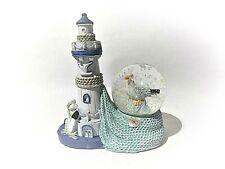 Glitterkugel Leuchtturm mit Möwe, Schüttelkugel, Schneekugel (ES17689) maritim