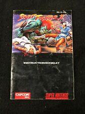 Original Super Nintendo SNES Video Game Street Fighter II Instruction Manual