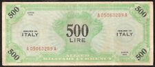 ITALY 500 LIRE 1943 P:M16b  F