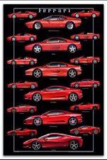 """Ferrari """"Storia di Otto""""Concorso Italiano Monterey 2013 Debut Car Poster Own It"""