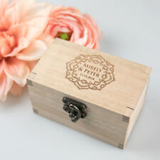 Custom Handmade Wooden Ring Box with Velvet Lining Wedding/Ceremony/Proposal