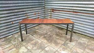 Reclaimed Hardwood Industrial Bench - Teak Oak Iroko