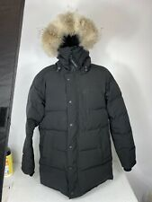 Canada Goose Carson Slim Fit Hooded Parka  Black Coyote Fur Size XL 3805M
