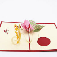Mothers Day Birthday Greeting Card 3D Handmade Butterfly And Flowers Mum Gift S