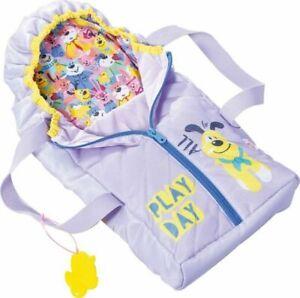 Babyborn Tragetasche Puppenzubehör 2in1 Schlafsack Spielzeug Rollenspiel B-WARE