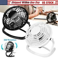 Mini USB Desk Fan Super Quiet Portable Cooling Air Cooler For Computer Laptop US