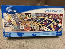 "Mega 2009 Disney ""Mickey Mouse Through Years"" Panoramas 750 Pc Jigsaw Puzzle NEW"