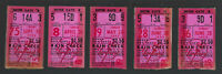 VINTAGE 1952 - 1953 NEW YORK YANKEES TICKETS TICKET STUB LOT (5) MICKEY MANTLE