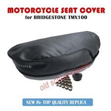 Bridgestone TMX100 Tmx 100 Siège Housse Avec Logo Argent & 15 Siège Boutons
