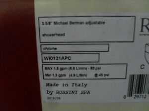 "Rohl WI0121APC Michael Berman style 3-5/8"" Adjustable shower head Chrome"