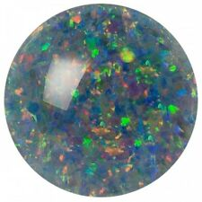 UNUSUAL 6mm ROUND CABOCHON-CUT AUSTRALIAN BLACK OPAL TRIPLET GEMSTONE