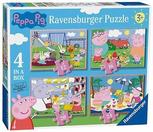 Ravensburger PEPPA PIG 4 IN A BOX JIGSAW PUZZLES Toys Games BN