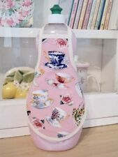 Rose Tea Cups Pink Shabby Victorian Kitchen Soap Lotion Bottle Apron