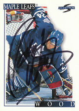 RANDY WOOD MAPLE LEAFS AUTOGRAPH AUTO 95-96 SCORE #63 *10857