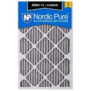 16X25x1 Air Filter Charcoal Carbon Furnace Merv 12 Filtrete Filtretetm 3m Bulk