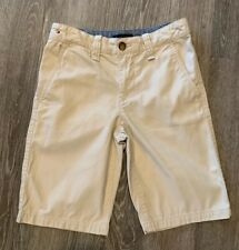 TIMMY HILFIGER Boy's Flat Front Summer Khaki Shorts Size 10