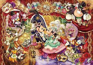 Tenyo Puzzle 1000pc Disney Mickey Minnie Magnificent Masquerade Authentic 66976