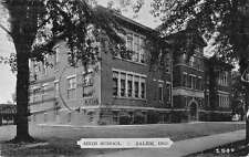 Salem Indiana birds eye view local high school antique pc Y15597