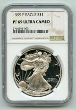 1999-P American Eagle 1 oz Proof Silver Dollar NGC PF69 Ultra Cameo BG646