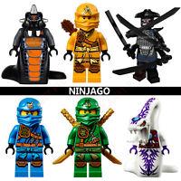 Ninjago CUSTOM Lego Mini Figures Building Zane Lloyd Kai Cole Pythor Master Wu