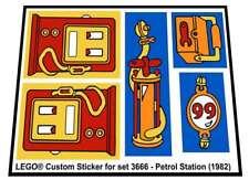Lego® Custom Sticker for Fabuland set 3666 - Petrol Station (1982)