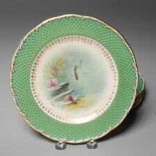 ANTIQUE SET OF 4 FISH PLATES BY MINTON'S FOR TIFFANY & CO. SIGNED
