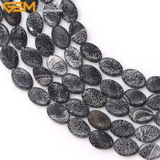 50x34mm Matte Black Onyx Carved Leaf Pendant Bead