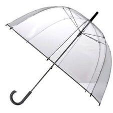 Paraguas de Copa Transparente con Mango Negro