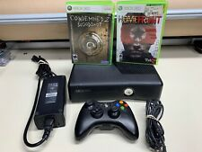 MICROSOFT XBOX 360 CONSOLE 4GB W/ CONTROLLER & CABLES + 2 GAMES **TESTED**