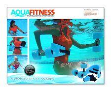 Aqua Fitness Water Exercise Set - 6 Piece Aerobic Belt, Barbells Pool Workout