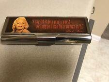 Marilyn Monroe Movie Star Man's World Logo Large Metal Box