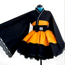 Woman Anime NARUTO Cosplay Costume Dress Skirt Kimono Slime Princess Maid Party