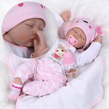 22'' Handmade Reborn Baby Dolls Vinyl Silicone Lifelike Dolls Girl Newborn Doll