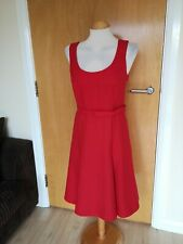 Ladies Dress Size 10 NEXT Red Fit And Flare Office Work Day Party Smart