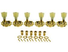 KLUSON REVOLUTION Locking Gold TUNERS 3+3 PEARL KEYSTONE BUTTON 19:1 KEDPL-3801G