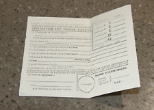Antique aplication for ration tickets (fuel) paper - Commonwealth of Australia