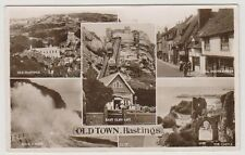 Sussex (East) postcard - Old Town, Hastings (Multiview showing 5 views) - RP