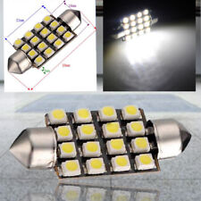 10X blanc voiture Interieur dome C5W SMD 16 LED feston Ampoule Lampe 12v 39mm No