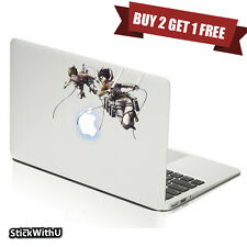 Macbook Air Pro Skin Sticker Decal Attack On Titan Anime Mikasa Eren Fall BN152