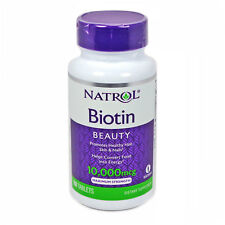 Natrol Biotin 10,000 mcg Maximum Strength 100 tablets NEW