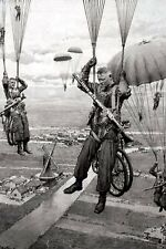 paratroopers with bicycles in full uniform War Photo WW2  4x6 inch J