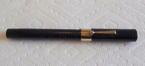 Huge Antique BCHR Fountain Pen Webster PROFESSIONAL 14k Gold Nib Hard Rubber OLD